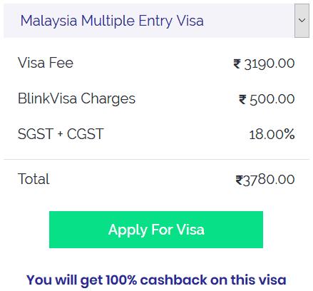 Malaysia multiple entry visa fee