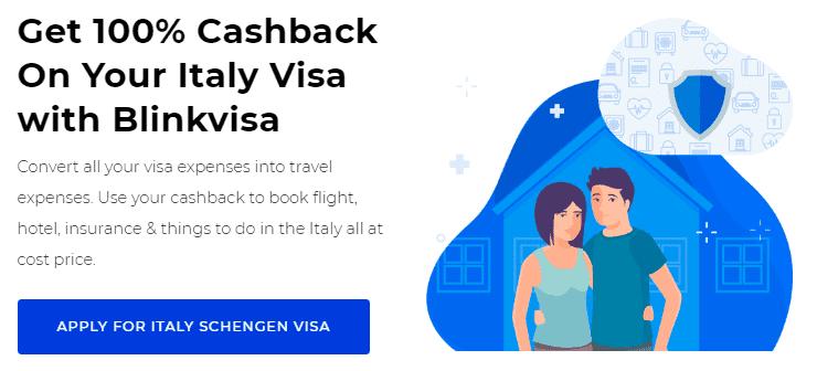 Italy Visa Cashback