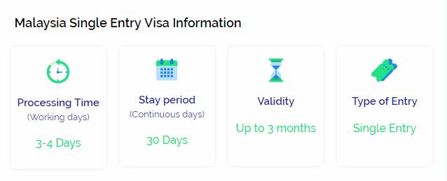 Malaysia single entry visa