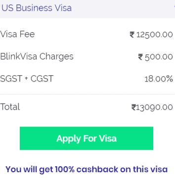 US Business Visa Fees