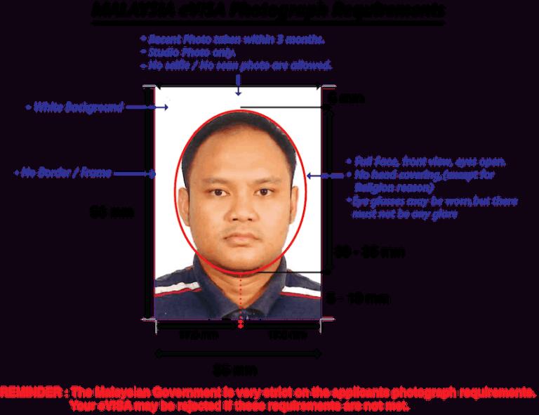 Malaysia visa photo size