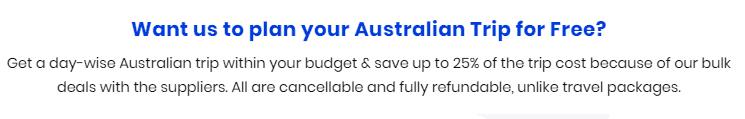 Australia travel plan