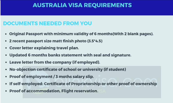 Australia visa requirements