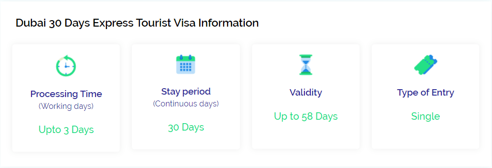 30 days express tourist visa