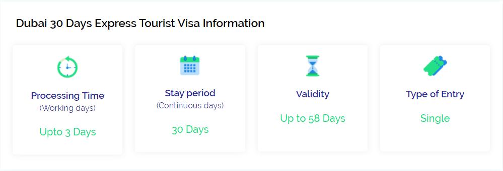30 days express tourist visa