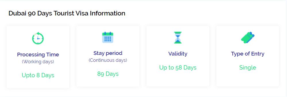 Dubai 90 days tourist visa