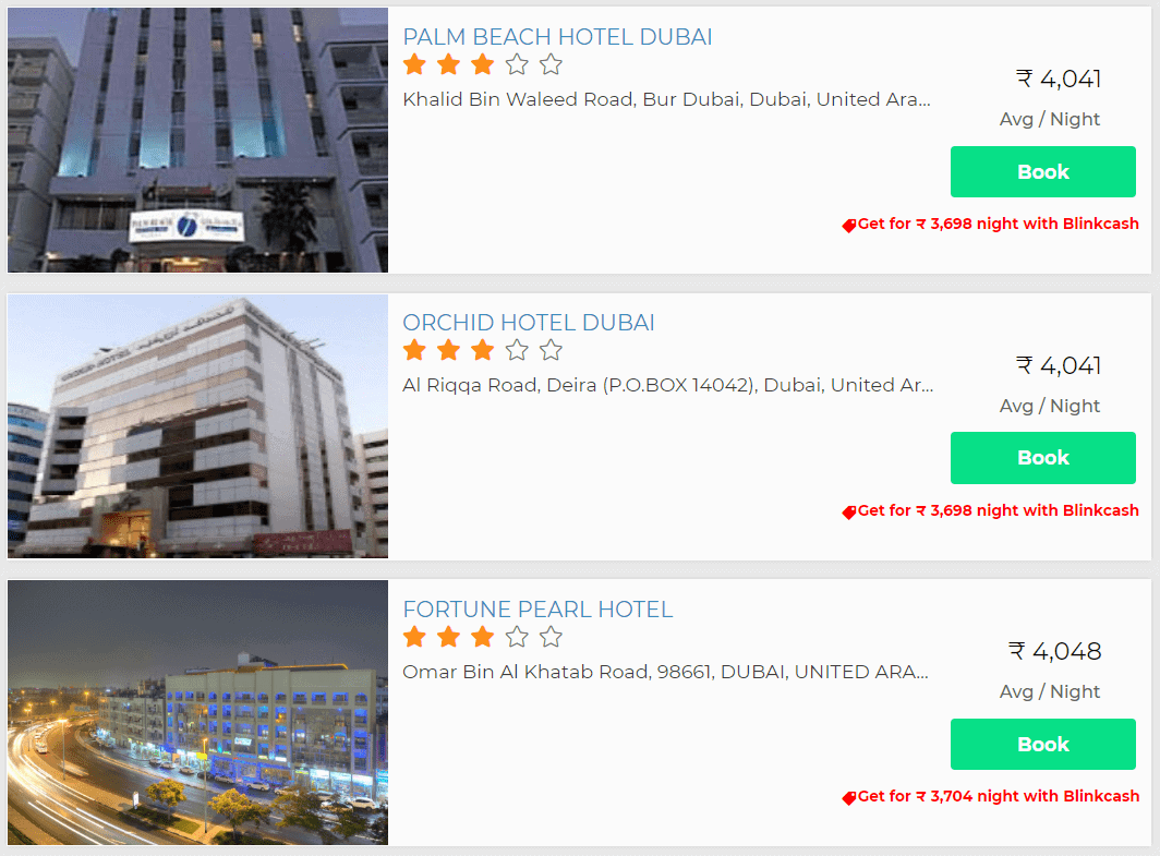 Blinkcash hotel discount