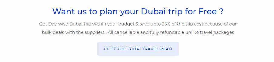 Dubai trip plan