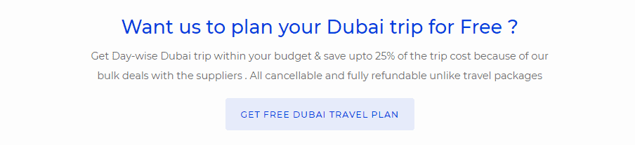 Dubai Travel Itinerary
