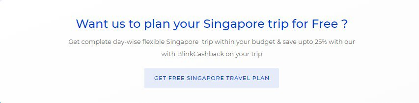 Singapore travel plan