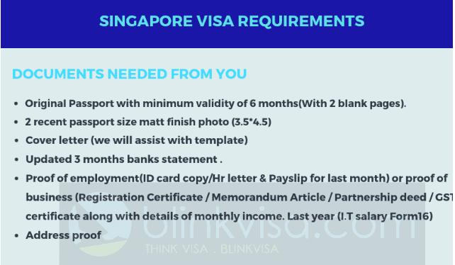 Singapore Visa Requirements