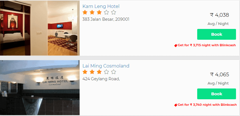 Singapore stay deals