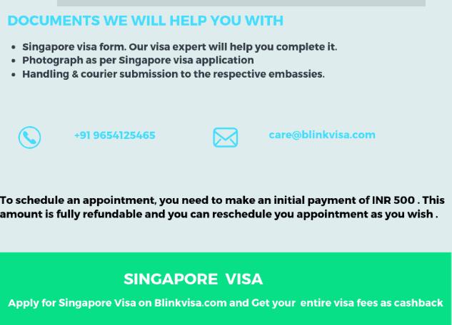 Singapore visa requirements 2