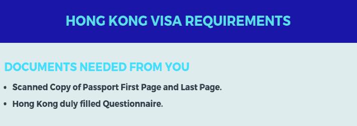 Hong-Kong Visa Requirements