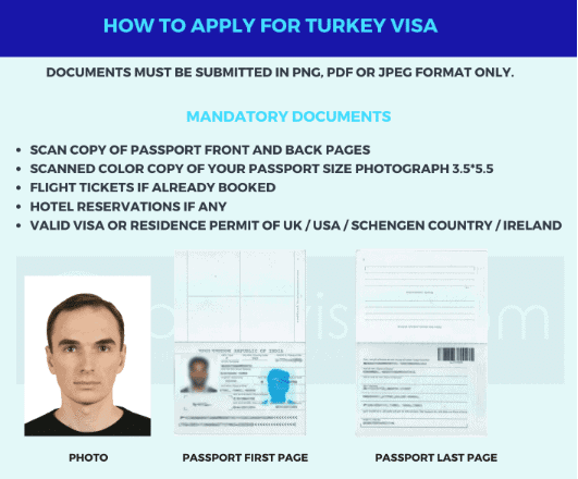 turkey visa photo size and specifications