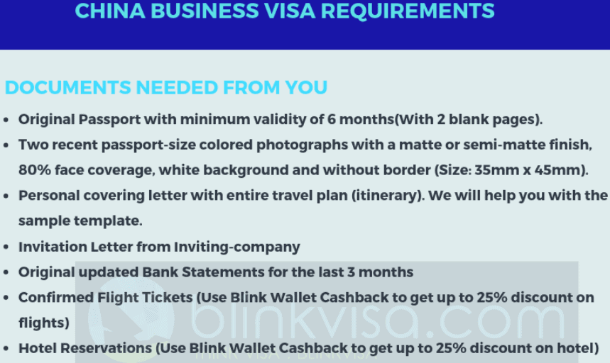 China business visa requirements
