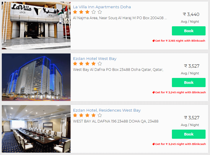 Hotel discounts with Blinkcash Qatar