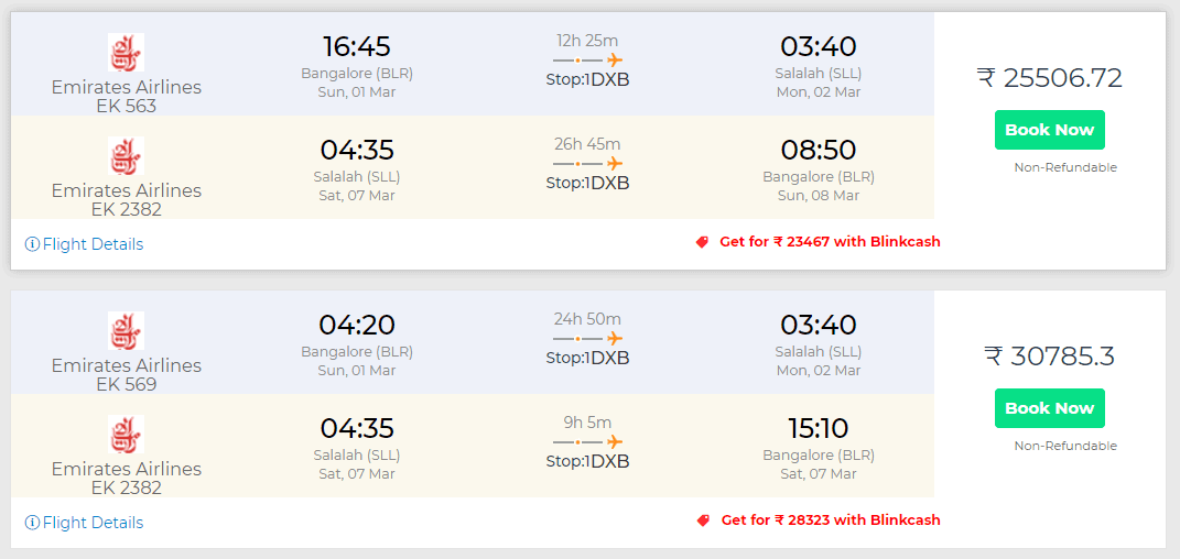 oman flights discount