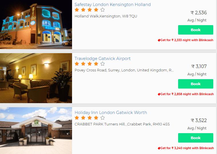 blinkvisa hotel booking