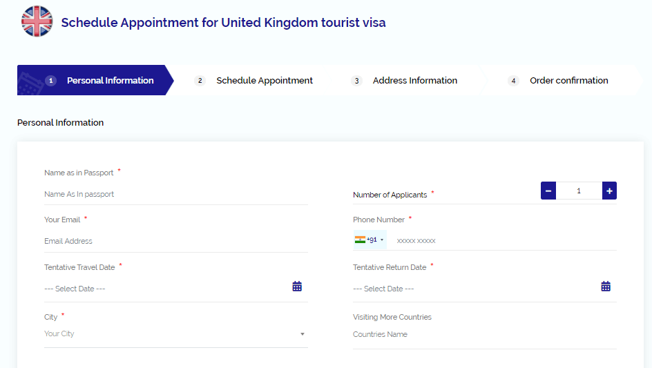schedule appointment for uk visa