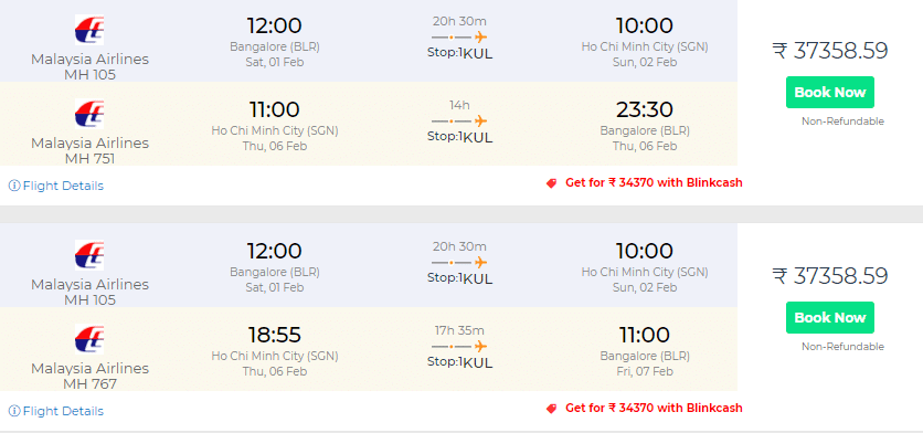 Vietnam Flight Deals