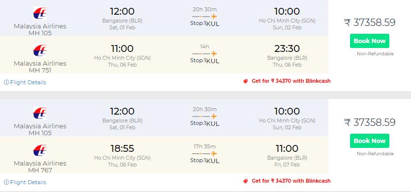Vietnam Flight Deals