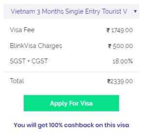 Vietnam single entry 3 months