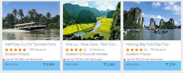 vietnam fun activity bookings