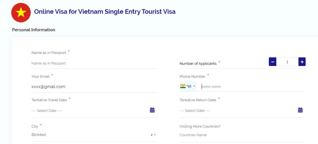 Apply for Vietnam visa