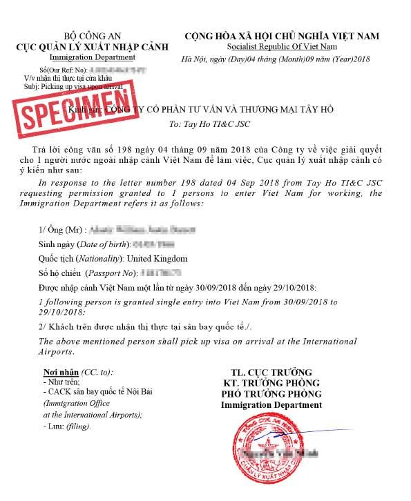 Vietnam visa approval