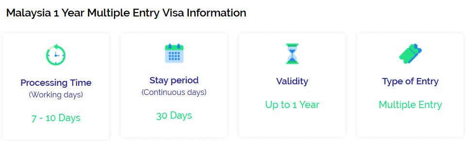 malaysia one year multiple entry visa info