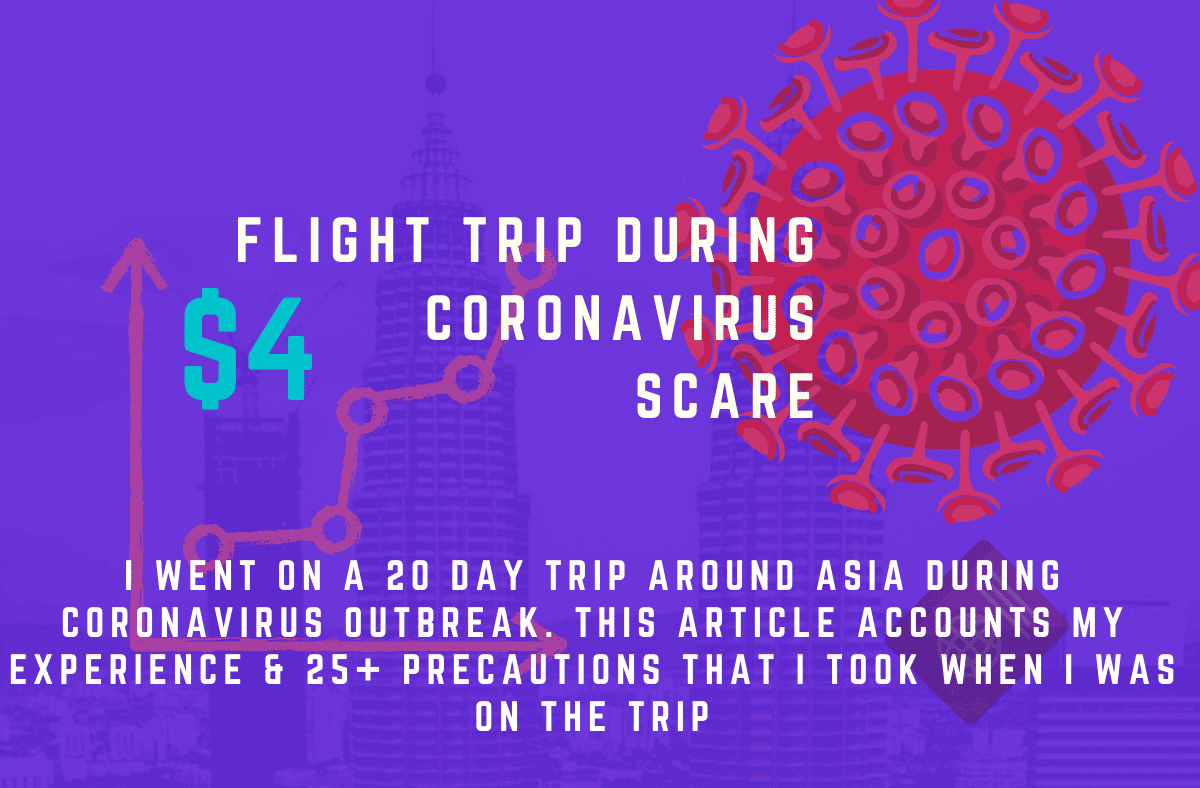 I went on a 20 day trip around asia during coronavirus outbreak. this article accounts my experience & 25+ precautions that I took when i was on the trip