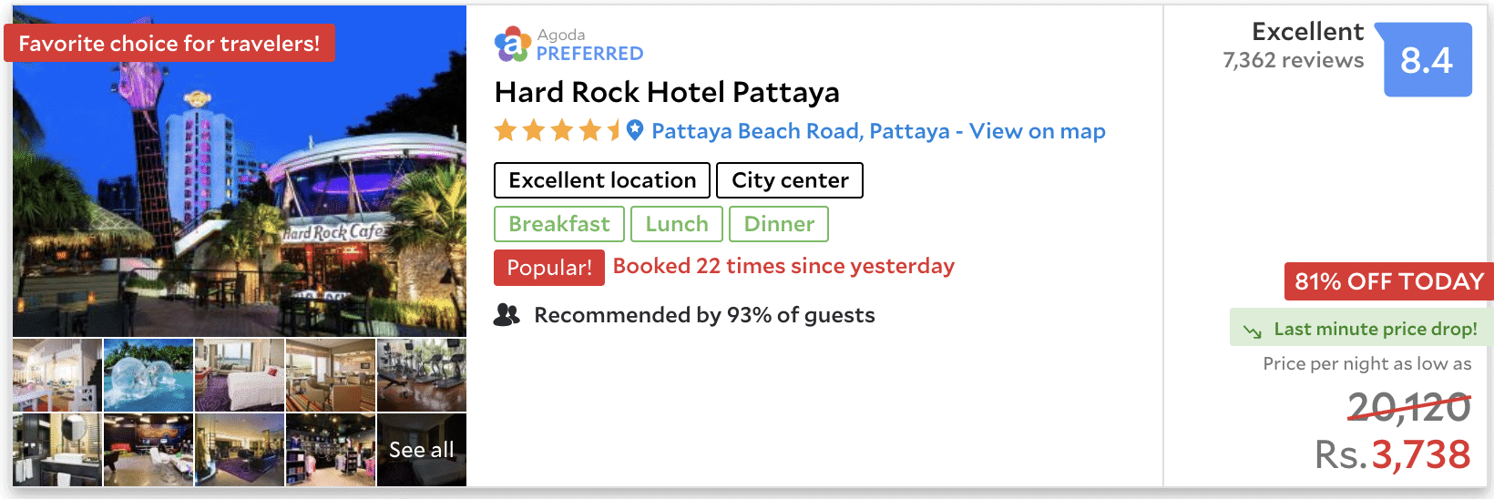 Pattaya hard rock hotel