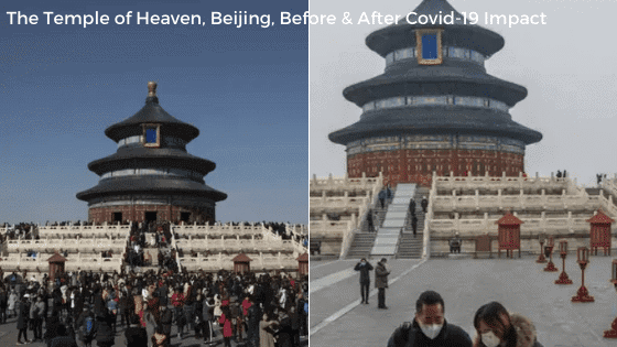 Temple of Heaven, Beijing, Before & After Covid-19 Impact